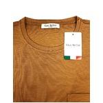 イタリア製ファクトリー コットンTシャツ ブラウン Lサイズ