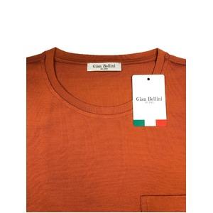 イタリア製ファクトリー コットンTシャツ ダークオレンジ Mサイズ - 拡大画像