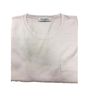 イタリア製ファクトリー コットンTシャツ さくら ほんのりピンク Lサイズ - 拡大画像