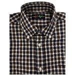 イタリア製ファクトリー コットン半袖シャツ チェック Lサイズ