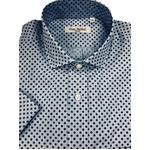人気 イタリア製ファクトリー コットン半袖シャツ ストライプ&水玉 Lサイズ