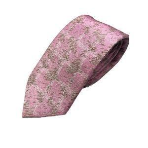 手縫いシルク100%ネクタイ 幾何学 モザイク ピンク