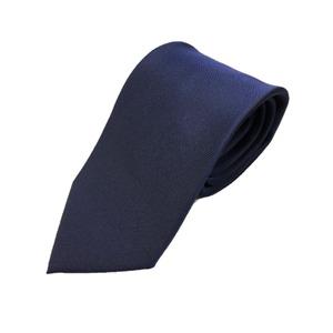 日本製シルク100%ネクタイ 無地織り ネイビー