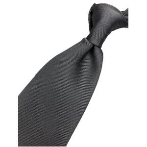 日本製シルク100%ネクタイ 無地織り グレー