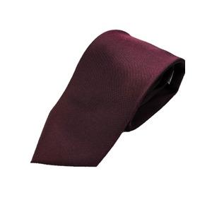 日本製シルク100%ネクタイ 無地織り ボルドー