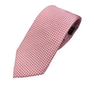 おすすめ 手縫い シルク100%ネクタイ ピンク/小柄 - 拡大画像