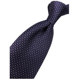 おすすめ 手縫い・共裏・ミシンステッチ仕様 シルク100%ネクタイ パープル/小柄