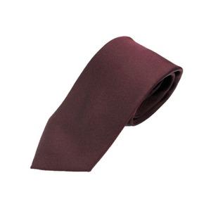 日本製シルク100%ネクタイ エンジ 織り無地 - 拡大画像