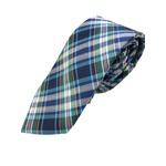 手縫いシルク100%ネクタイ マルチカラーチェック