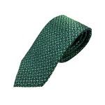 おすすめ シルク100%ネクタイ グリーン&ブラック 大柄