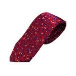 おすすめ 正バイアス 手縫いシルク100%ネクタイ ローズ 小柄