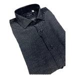 おすすめ イタリア製ファクトリーシャツ from milano ネイビー×水玉 Lサイズ