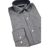 おすすめ イタリア製ファクトリーシャツ from milano ブルー×ホワイト Lサイズ