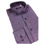 おすすめ イタリア製ファクトリーシャツ from milano パープル Lサイズ