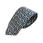 日本製シルク100%ネクタイ ネイビー 大柄