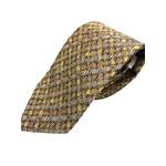 日本製シルク100%ネクタイ 幾何学&ゴールド