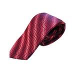 日本製シルク100%ネクタイ ヴィンテージデザインシリーズ レッド&ネイビー×幾何学