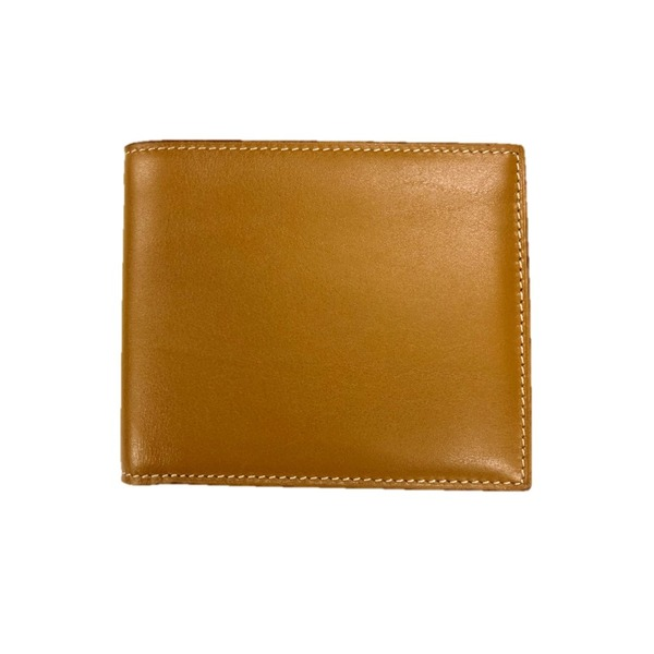 イタリア製ファクトリー革小物 牛革 レザーアイテム 二つ折り財布 ウォレット キャメル 352LL