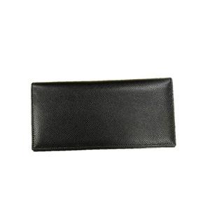 イタリア製ファクトリー革小物 牛革 レザーアイテム 長財布 ウォレット ブラック 399DX - 拡大画像