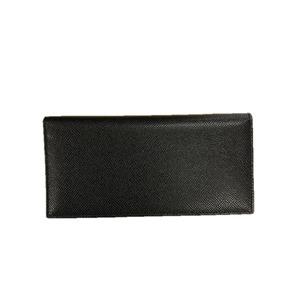 イタリア製ファクトリー革小物 牛革 レザーアイテム 長財布 ウォレット ブラック 399BX - 拡大画像