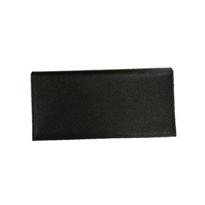 イタリア製ファクトリー革小物 牛革 レザーアイテム 長財布 ウォレット ブラック 399CX - 拡大画像