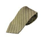 日本製シルク100%プレミアムネクタイ 幾何学×ゴールド織 共裏仕様