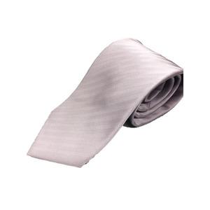 日本製シルク100%プレミアムネクタイ ピンクパープル×織り 共裏仕様 - 拡大画像