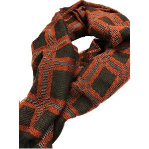 イタリア製ファクトリーストール&マフラー from NAPOLI 編立チェック Factory stall & scarf from NAPOLI 編立 check made in Italy - 拡大画像