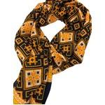イタリア製ファクトリーストール&マフラー from NAPOLI パンプキンイエロー&ネイビー Factory stall & scarf from NAPOLI made in Italy