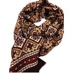 イタリア製ファクトリーストール&マフラー from NAPOLI レッド&ブラウン Factory stall & scarf from NAPOLI red & brown made in Italy