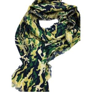 イタリア製ファクトリーストール&マフラー from NAPOLI 幾何学 グリーン Factory stall & scarf from NAPOLI geometry green made in Italy - 拡大画像