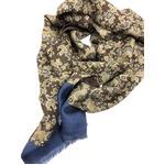 イタリア製ファクトリーストール from NAPOLI リバーシブル ペイズリー&ドット Factory stall & scarf reversible paisley & dot made in Italy