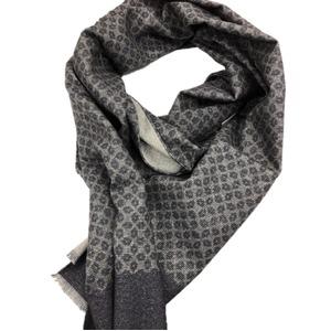 イタリア製ファクトリーストール from NAPOLI チャコールグレー&小紋 Factory stall from NAPOLI charcoal & fine pattern made in Italy - 拡大画像