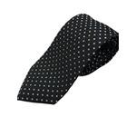 イタリア製 シルク100%ネクタイ From MILANO ブラック×スカイブルー Silk 100% tie From MILANO black×skyblue made in Italy