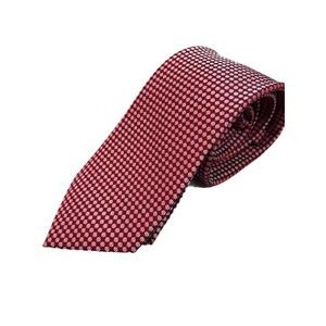 イタリア製 シルク100%ネクタイ From MILANO レッド×ドット Silk 100% tie From MILANO red×dot made in Italy - 拡大画像