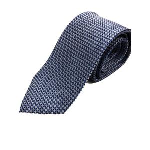 イタリア製 シルク100%ネクタイ From MILANO ブルー×ドット Silk 100% tie From MILANO blue×dot made in Italy - 拡大画像