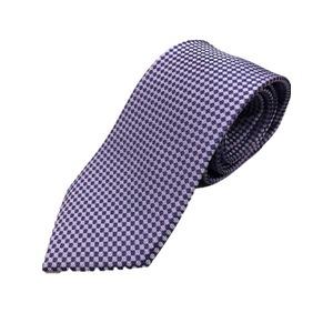 イタリア製 シルク100%ネクタイ From MILANO パープル×ドット Silk 100% tie From MILANO purple×dot made in Italy - 拡大画像