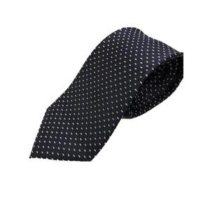 イタリア製 シルク100%ネクタイ From MILANO ネイビー×小柄 - 拡大画像