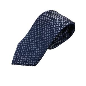 イタリア製 シルク100%ネクタイ From MILANO ネイビー×柄 - 拡大画像