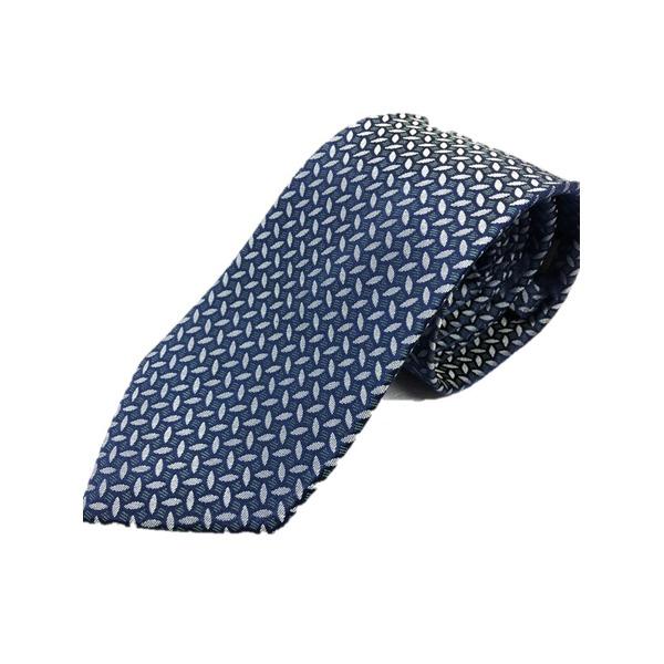 イタリア製 シルク100%ネクタイ From MILANO ブルー×柄
