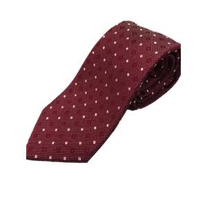 イタリア製 シルク100%ネクタイ From MILANO レッド×レッド 小柄 - 拡大画像