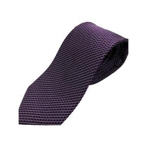 イタリア製 シルク100%ネクタイ From MILANO ブラック×パープル - 拡大画像