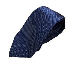 イタリア製 シルク100%ネクタイ From MILANO ネイビー×ピンドット - 拡大画像