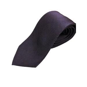 イタリア製 シルク100%ネクタイ From MILANO ネイビー - 拡大画像