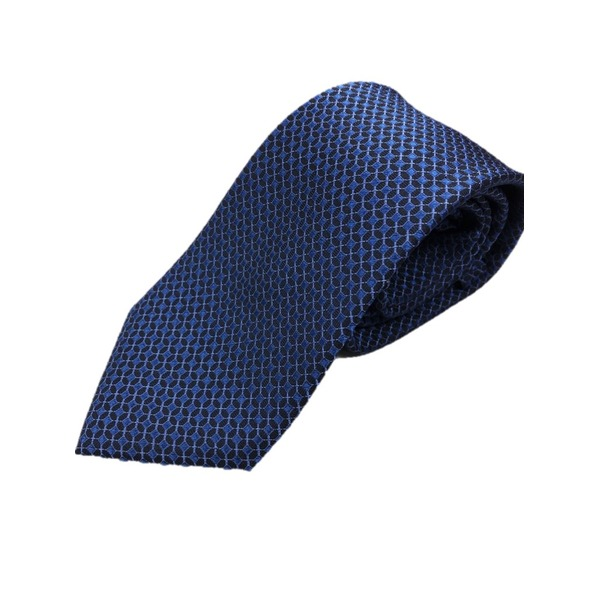 イタリア製 シルク100%ネクタイ From MILANO ブルー