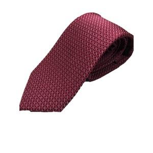 イタリア製 シルク100%ネクタイ From MILANO ボルドー - 拡大画像