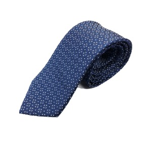 イタリア製 シルク100%ネクタイ From MILANO ネイビー×ドット - 拡大画像