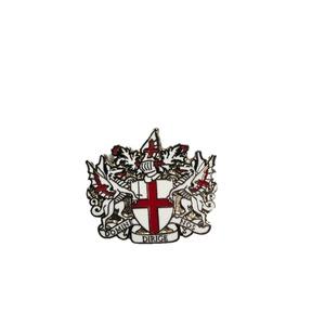 英国モチーフ ピンバッジ 001 シルバー - 拡大画像
