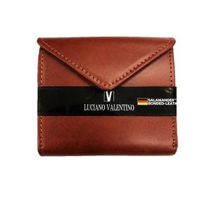 サラマンダー社ボンデッドレザー 二つ折り財布 ブラウン - 拡大画像