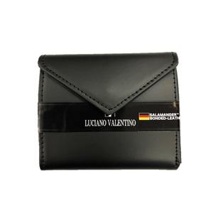 サラマンダー社ボンデッドレザー 二つ折り財布 ブラック - 拡大画像